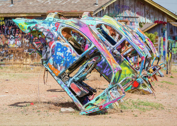 Wall Art - Photograph - Route 66 Vw Bug Ranch by Stephen Stookey