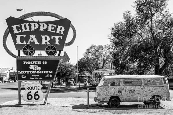 Photograph - Route 66 Vw Micro Bus by Anthony Sacco