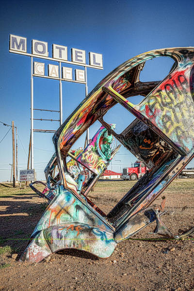Wall Art - Photograph - Route 66 Vw Slug Bug Ranch by Stephen Stookey