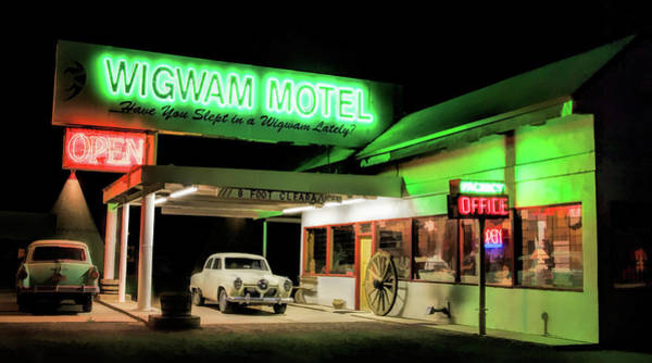 Painting - Route 66 Wigwam Motel Car Port by Christopher Arndt