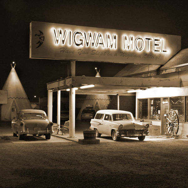 Wagon Digital Art - Route 66 - Wigwam Motel by Mike McGlothlen