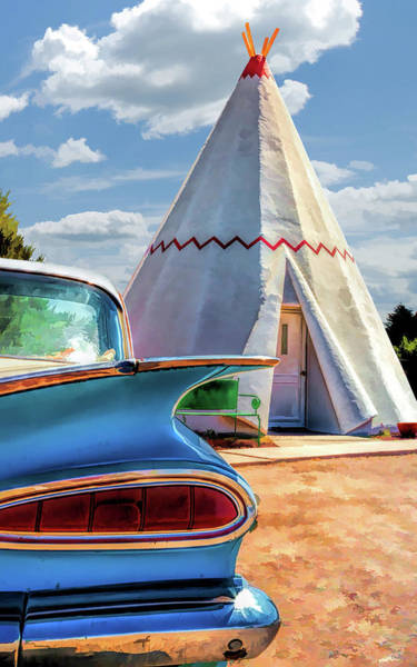 Painting - Route 66 Wigwam Motel Teepee by Christopher Arndt
