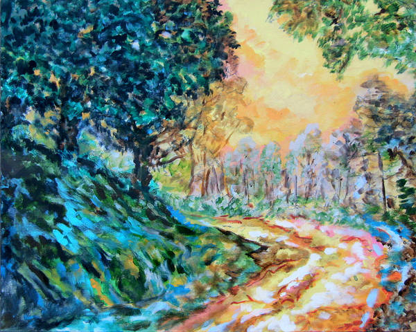 Wall Art - Painting - Route Home by Laura Heggestad