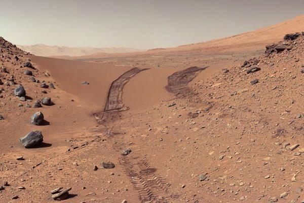 Jet Propulsion Laboratory Photograph - Roving Across Mars 1 - Earth Light by Nasa