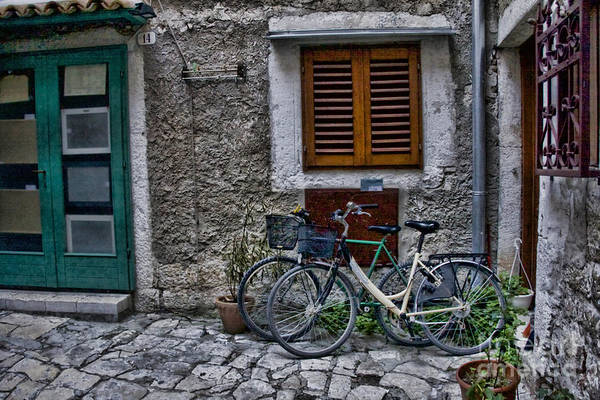 Photograph - Rovinj Bicycles by Crystal Nederman