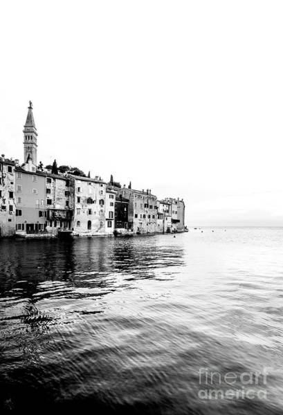 Wall Art - Photograph - Rovinj Old Town In Black And White by Jason Knott
