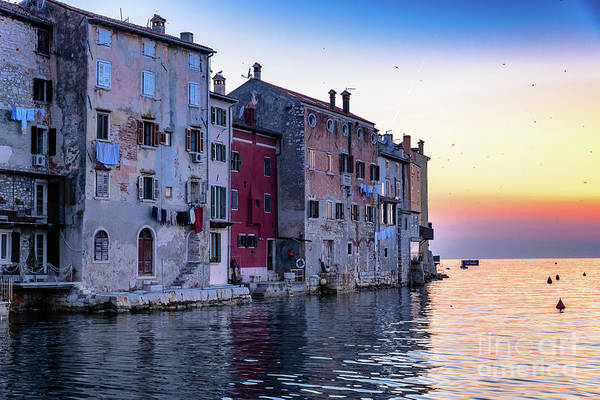 Rovinj Old Town On The Adriatic At Sunset Art Print