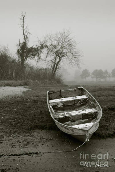 Photograph - Row Boat And Low Tide by Dave Gordon
