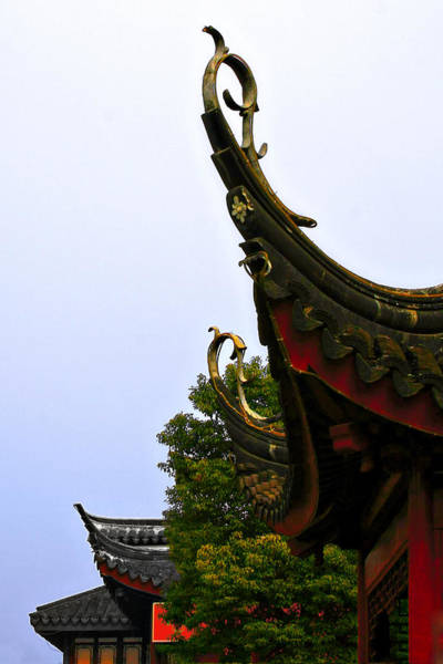 Wall Art - Photograph - Row Of Chinese Rooftops by Christine Till