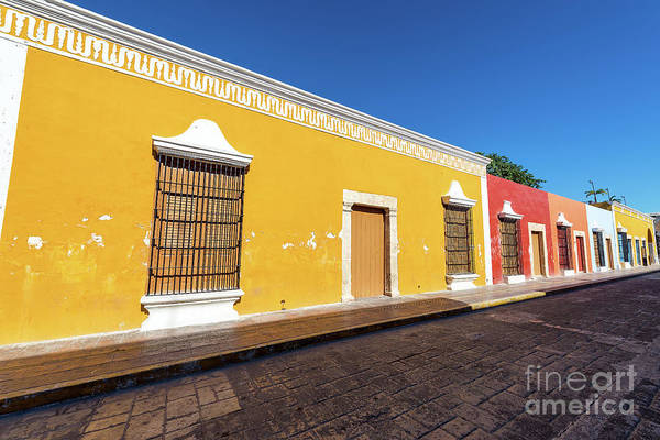 Campeche Photograph - Row Of Colonial Buildings by Jess Kraft