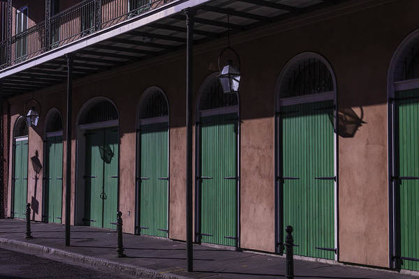 Photograph - Row Of Green Doors by Garry Gay