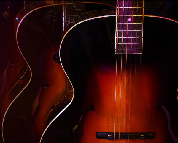 Photograph - Row Of Guitars by Jim Mathis