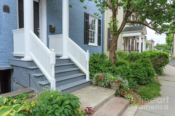 Lake Geneva Wall Art - Photograph - Row Of Historic Row Houses by Edward Fielding