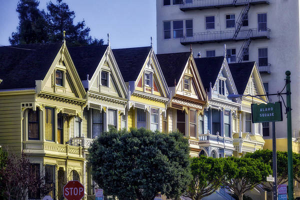 Edwardian Photograph - Row Of Painted Ladies Sf by Garry Gay