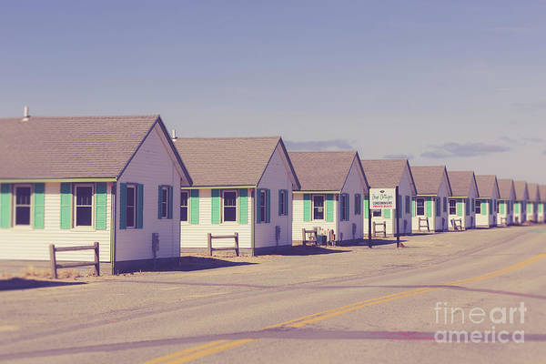 Wall Art - Photograph - Row Of Vintage 1930s Beach Cottages On Cape Cod by Edward Fielding