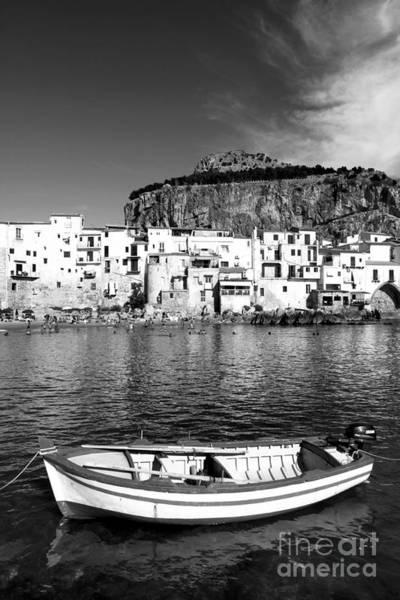 Wall Art - Photograph - Rowboat Along An Idyllic Sicilian Village. by Stefano Senise