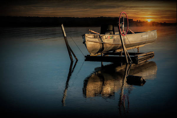 Photograph - Rowboat At Sunrise  by Randall Nyhof