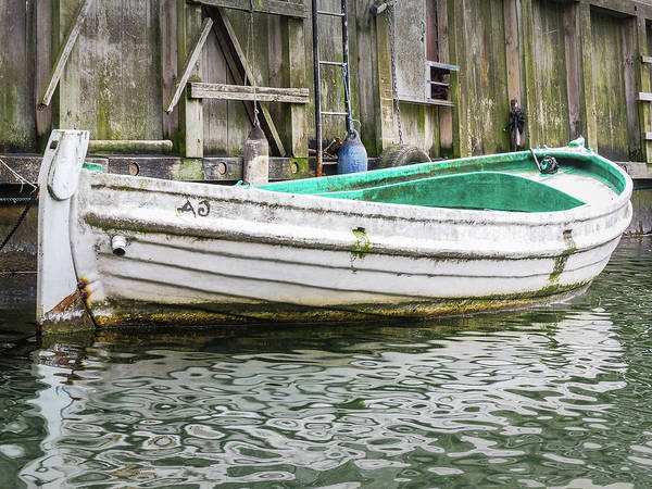 Photograph - Rowboat In Nyhavn Canal by Robin Zygelman
