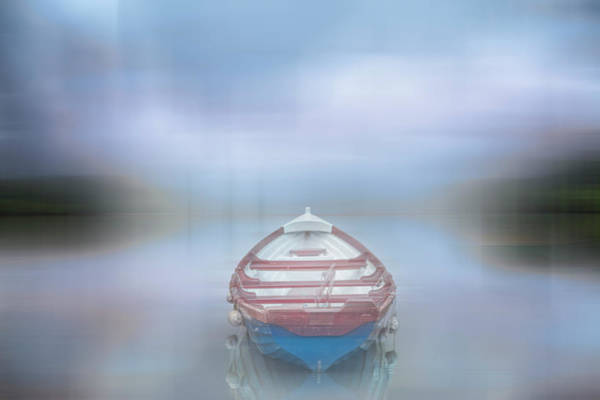 Photograph - Rowboat On The Lake Dreamscape by Debra and Dave Vanderlaan