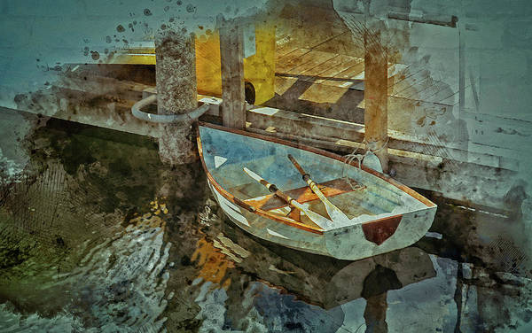 Digital Art - Rowboat by Richard Farrington