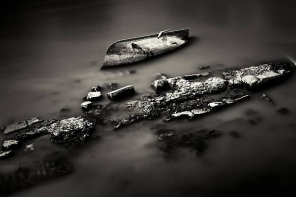 Photograph - Rowboat Turned Turtle by Fabrizio Troiani