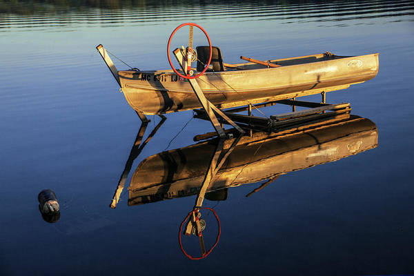 Photograph - Rowboat With The Glow Of Sunrise by Randall Nyhof