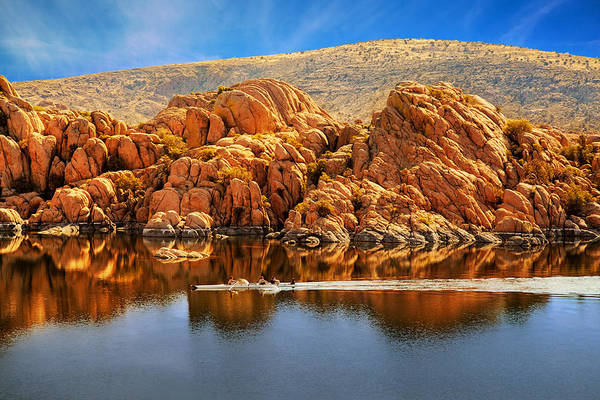 Photograph - Rowboating In Peaceful Watson Lake - Arizona by Susan Schmitz