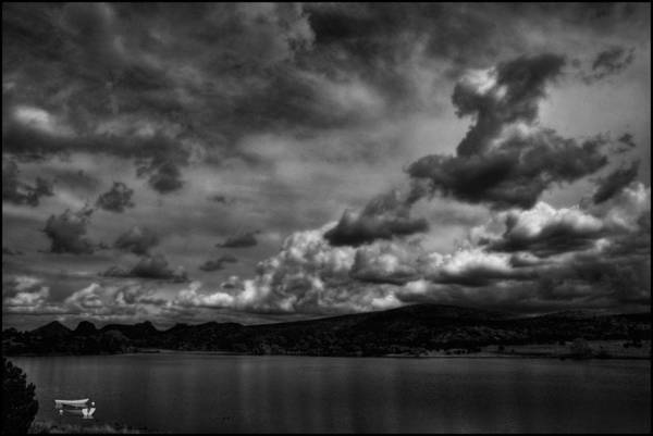 Photograph - Rowboats And Clouds On Lake Watson by Wayne King