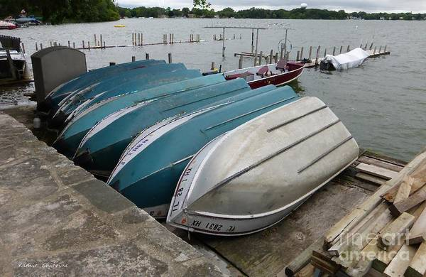 Photograph - Rowboats For Rent by Kathie Chicoine
