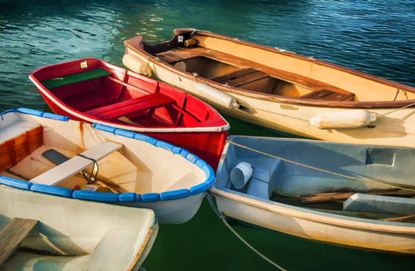 Photograph - Rowboats by Mick Burkey
