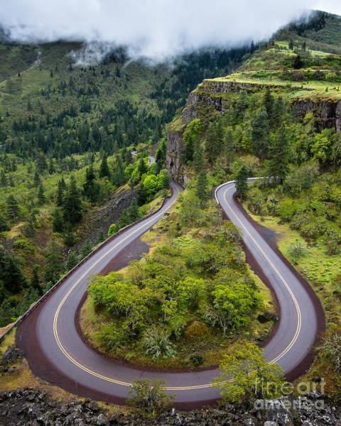 Rowena Photograph - Rowena Crest Loops - Oregon by Gary Whitton