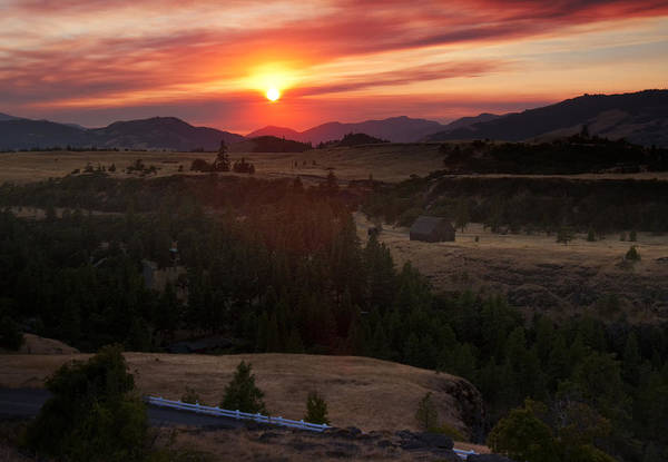 Photograph - Rowena Sunset by Jon Ares