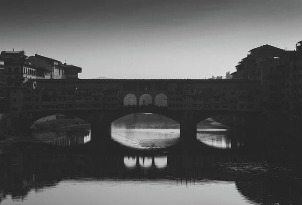 Photograph - Rower At Ponte Vecchio, Tuscany, Italy by Alexandre Rotenberg