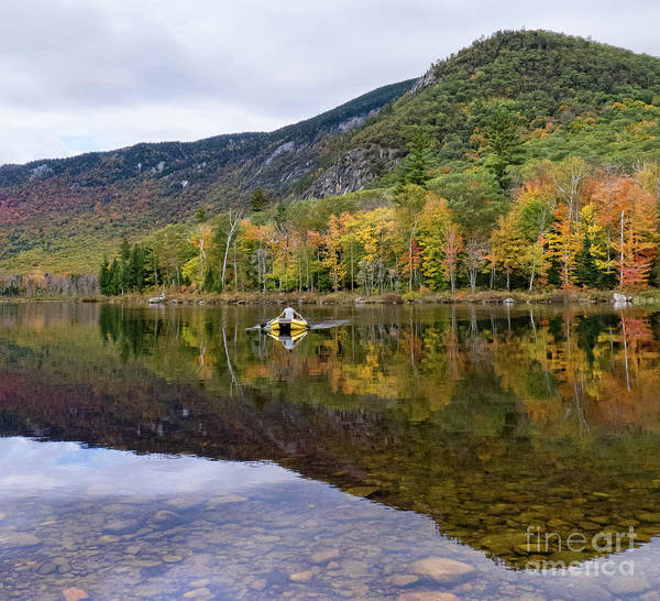 Photograph - Rower, The Basin, Evans Notch,  New Hampshire #70167 by John Bald