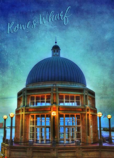 Photograph - Rowes Wharf Gazebo - Boston by Joann Vitali