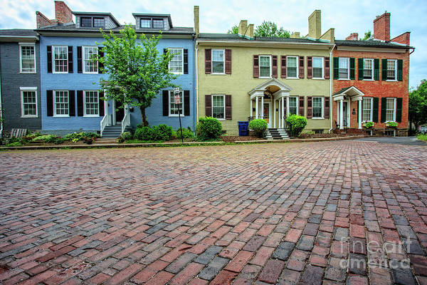 Upstate New York Wall Art - Photograph - Rowhouses Geneva New York by Edward Fielding