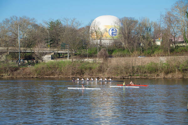 Photograph - Rowing By The Zoo Balloon - Philadelphia by Bill Cannon