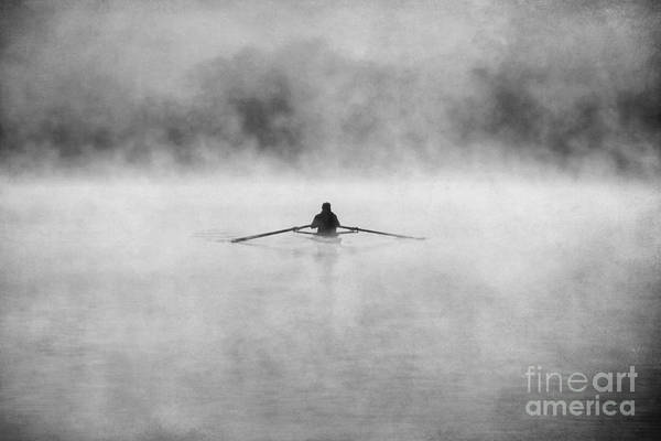 Kayak Photograph - Rowing On The Chattahoochee by Darren Fisher
