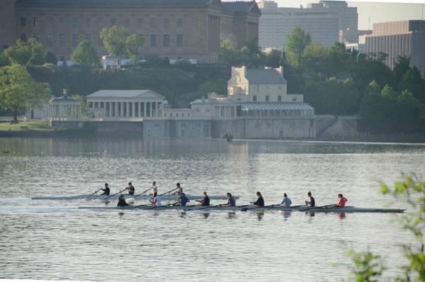 Photograph - Rowing- Philadelphia by Bill Cannon