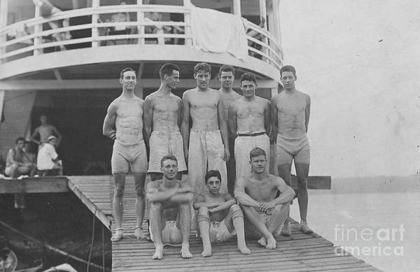 Photograph - Rowing Team, 1910.  by Granger