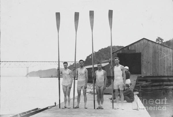 Photograph - Rowing Team, 1913.  by Granger