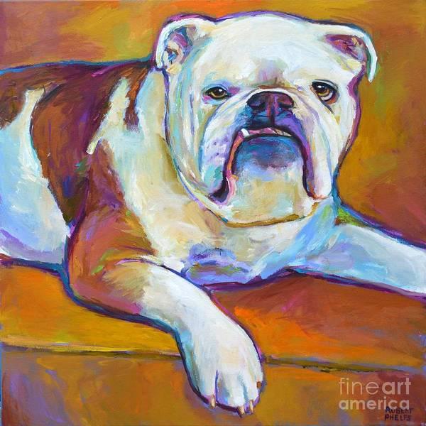 English Bulldog Painting - Roxi by Robert Phelps