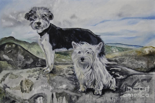 Painting - Roxie And Skye by James Lavott