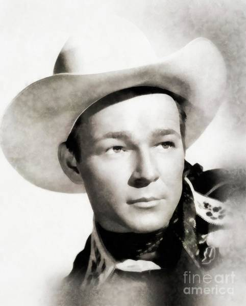 Stardom Painting - Roy Rogers, Vintage Actor by John Springfield