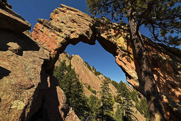 Royal Arch Trail Arch Boulder Colorado Art Print