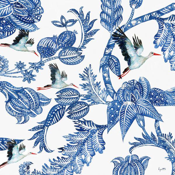 Egret Digital Art - Royal Batik Migration by Kimberly Potts
