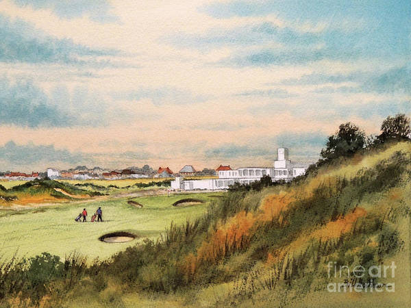 Wall Art - Painting - Royal Birkdale Golf Course 18th Hole by Bill Holkham