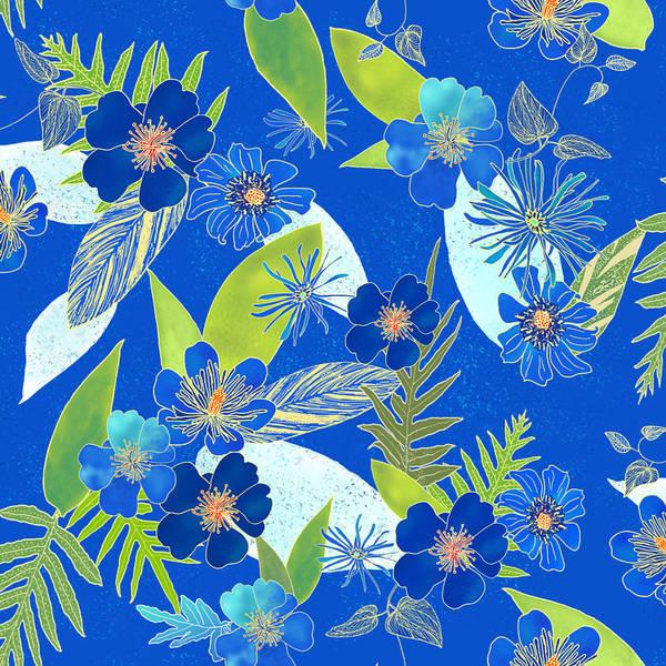 Royal Blue Aloha Tile 3 Art Print
