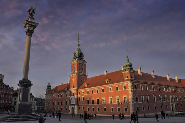 Town Square Wall Art - Photograph - Royal Castle Warsaw Old Town by Carol Japp