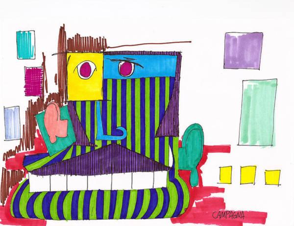 Sharpie Wall Art - Drawing - Royal Chops by Teddy Campagna